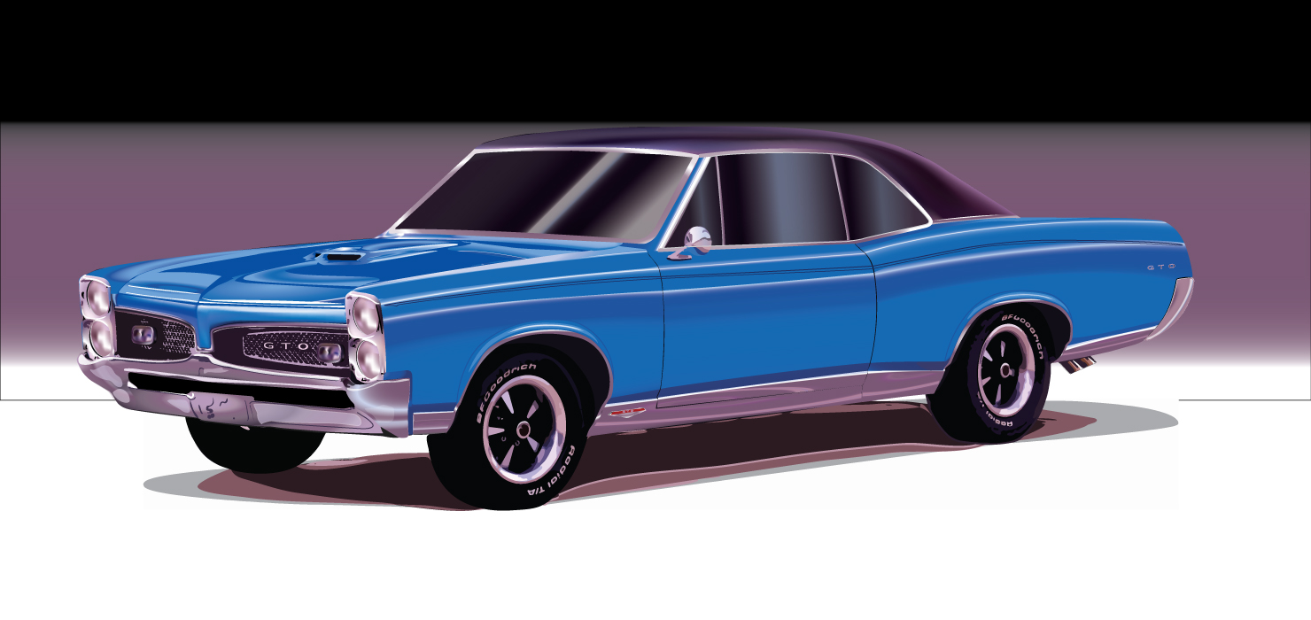 Vector Illustration of a 66 GTO