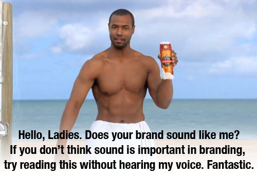 screenshot from an Old Spice Commecial